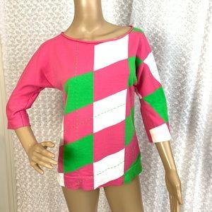 Lilly Pulitzer Diamond Pattern Sweater   Cute!